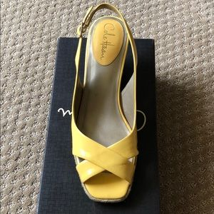 Cole Haan w/ Nike Air yellow espadrilles size 8.5